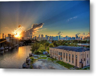 Behind Miami Metal Print