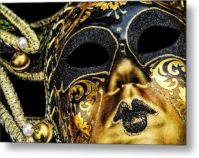 Metal Print featuring the photograph Behind The Mask by Carolyn Marshall