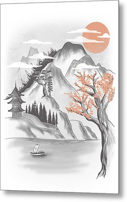 Behind The Mountain Metal Print by Anggrahito Pramono