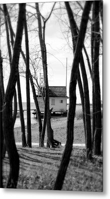 Metal Print featuring the photograph Behind The Trees by Valentino Visentini