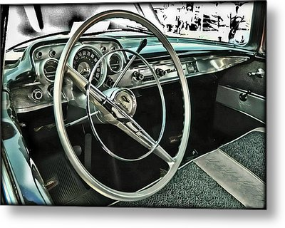 Behind The Wheel Metal Print by Victor Montgomery