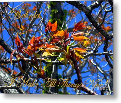 Behold I Make All Things New Metal Print by Dale   Ford