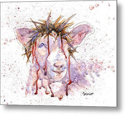 Behold The Lamb Metal Print by Marsha Elliott