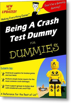 Metal Print featuring the photograph Being A Crash Test Dummy For Dummies by Mark Fuller