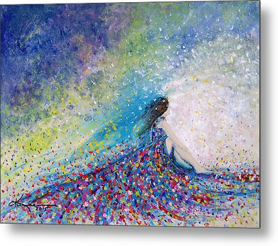 Being A Woman - #5 In A Daydream Metal Print by Kume Bryant