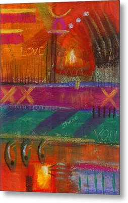 Metal Print featuring the painting Being In Love by Angela L Walker