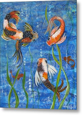 Being Koi Metal Print by Martha Ayotte