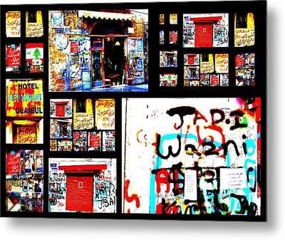 Beirut Colorful Walls  Metal Print by Funkpix Photo Hunter