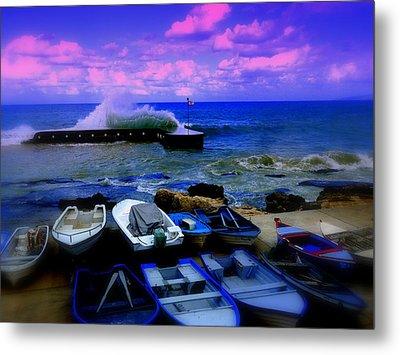 Beirut Seaside Waves Metal Print