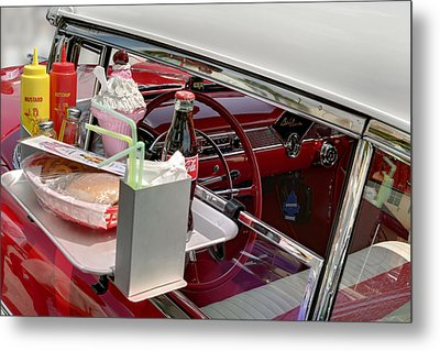 Bel Air 1956. Miami Metal Print