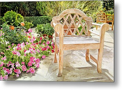 Bel-air Bench Metal Print by David Lloyd Glover