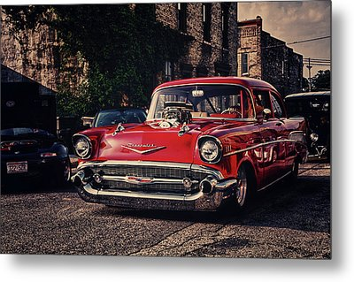 Metal Print featuring the photograph Bel Air Hotrod by Joel Witmeyer