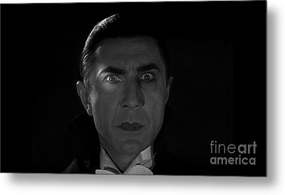 Bela Lugosi  Dracula 1931 And His Piercing Eyes Metal Print