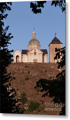 Metal Print featuring the photograph Belfry And Chapel Of Saint Sebastian by Michal Boubin