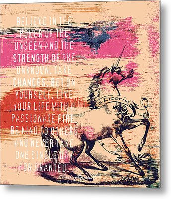 Believe In The Power Of The Unseen Metal Print by Brandi Fitzgerald