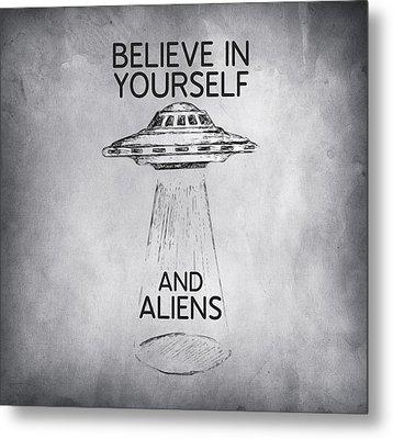 Believe In Yourself Quote Metal Print by Taylan Apukovska
