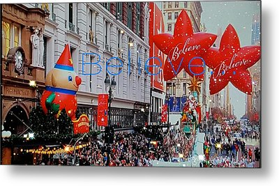 Believe Parade Metal Print by ARTography by Pamela Smale Williams