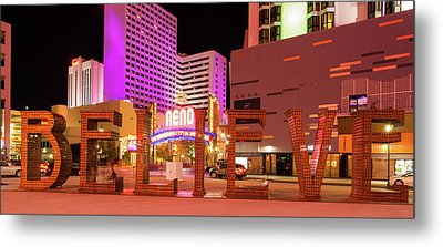 Metal Print featuring the photograph Believe Reno Nevada by Scott McGuire