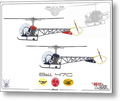 Bell 47g Metal Print by Amos Dor