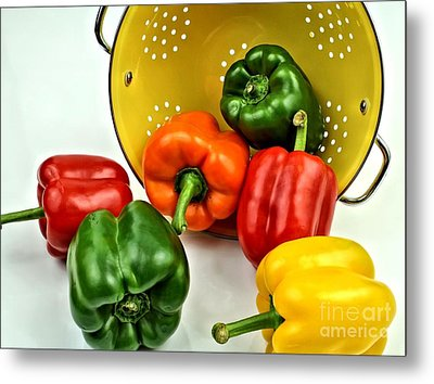 Bell Peppers Metal Print by Jimmy Ostgard