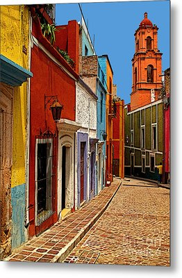 Bell Tower View Metal Print by Mexicolors Art Photography
