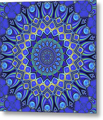 Metal Print featuring the digital art Bella - Blue by Wendy J St Christopher