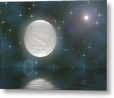 Metal Print featuring the digital art Bella Luna by Wendy J St Christopher