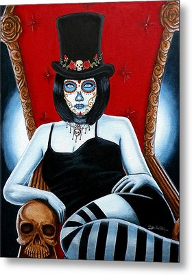 Metal Print featuring the painting Bella Muerte 2016 by Al  Molina