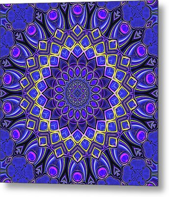 Metal Print featuring the digital art Bella - Purple by Wendy J St Christopher