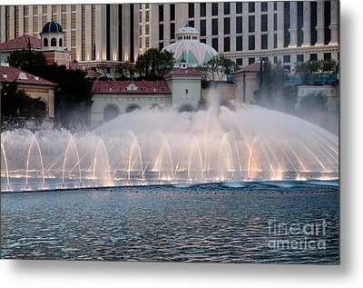 Bellagio Fountain Patterns 2 Hotel Casino Fountains Las Vegas Nevada Metal Print by Andy Smy