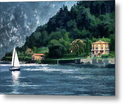 Bellagio Villa Metal Print by Jim Hill