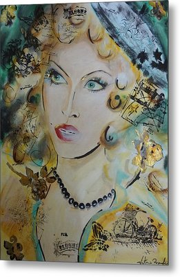 Belle De Nuit Metal Print by Victoria Rosenfield