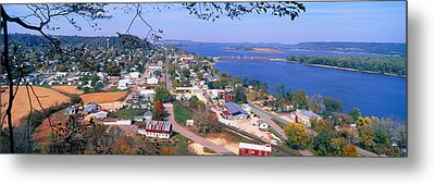 Bellevue State Park And Great River Metal Print