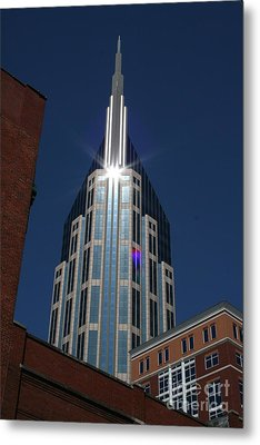 Metal Print featuring the photograph Bellsouth Tower - Nashville Tennessee by John Black