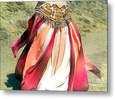 Belly Dance Fashion - Ameynra Skirt - Desert Rose Metal Print by Sofia Metal Queen