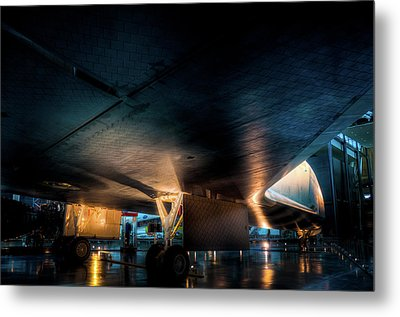 Belly Of The Shuttle Metal Print