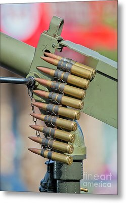 Metal Print featuring the photograph Belt Of Rounds by Chris Dutton