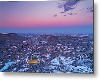 Belt Of Venus Over Golden Colorado Metal Print
