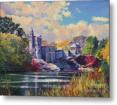Belvedere Castle Central Park Metal Print by David Lloyd Glover
