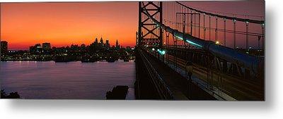 Ben Franklin Bridge Metal Print by Panoramic Images