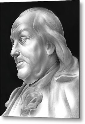 Ben Franklin Metal Print by Greg Joens