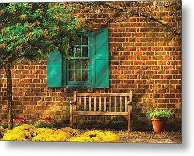 Bench - Please Have A Seat Metal Print by Mike Savad