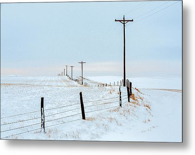 Bend In The Road Metal Print by Todd Klassy