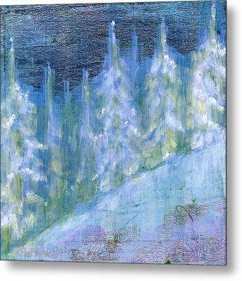 Bend Snow Trees Metal Print by Patt Nicol