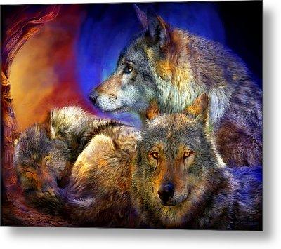 Beneath A Blue Moon Metal Print by Carol Cavalaris