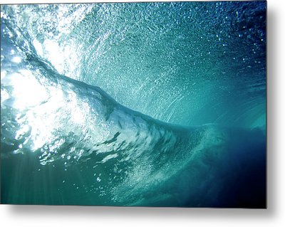 Beneath The Curl Metal Print
