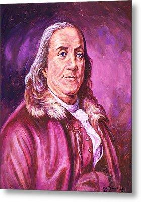Benjamin Franklin Metal Print by Ed Breeding