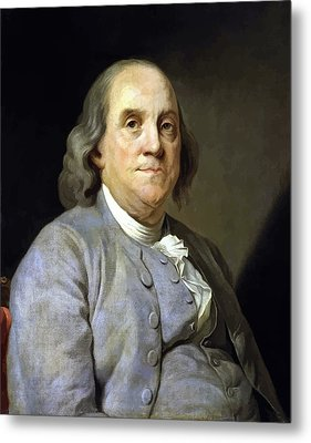 Benjamin Franklin Metal Print by War Is Hell Store