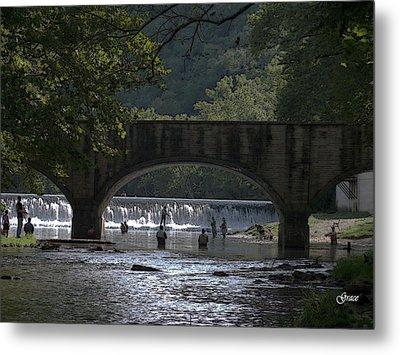 Bennett Springs Bridge Metal Print by Julie Grace
