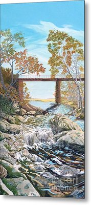 Bennington Riverbed Metal Print